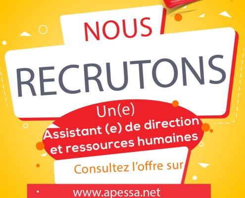 Recrutement ADRH APESSA