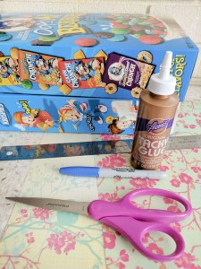 cereal box mail holder craft