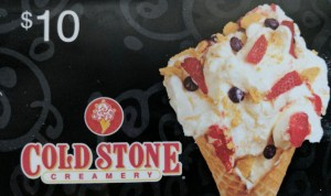 cold stone gift card