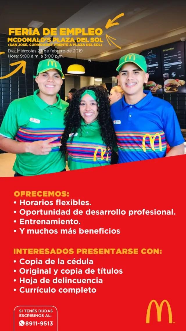 trabajo McDonald's
