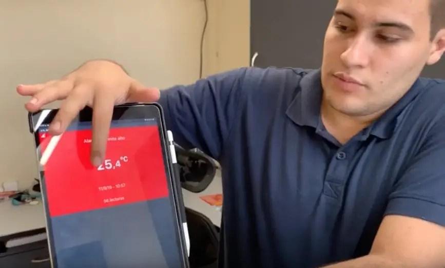 Control de temperatura de alimentos con App
