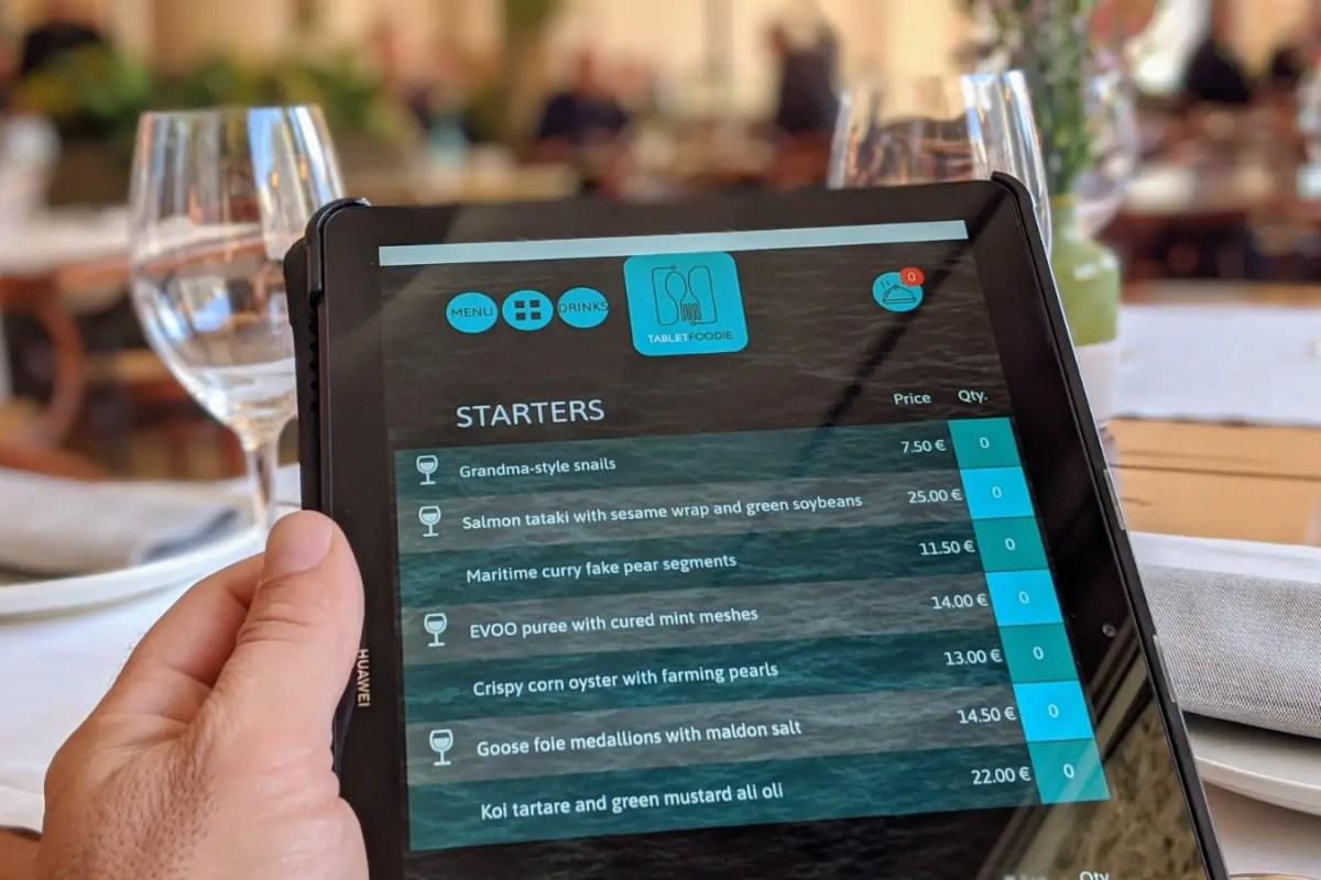 Nueva app española para restaurantes: TabletFoodie