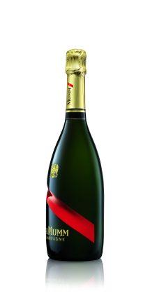 Mumm Champagne Bottle