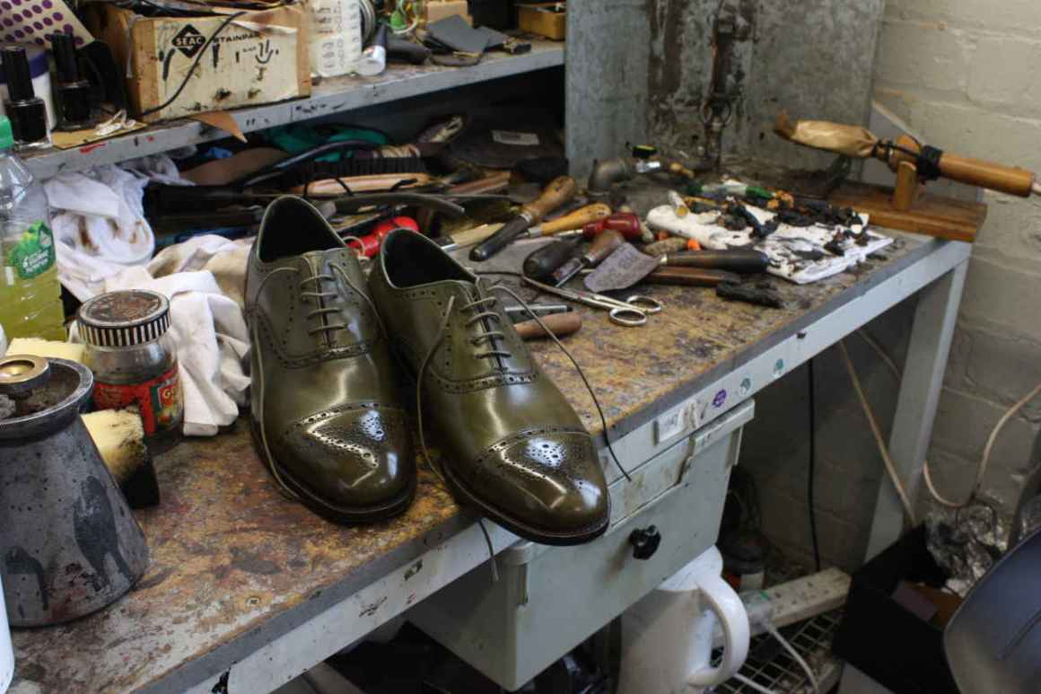 Cheaney - 07, Complete on the shoemakers bench.JPG