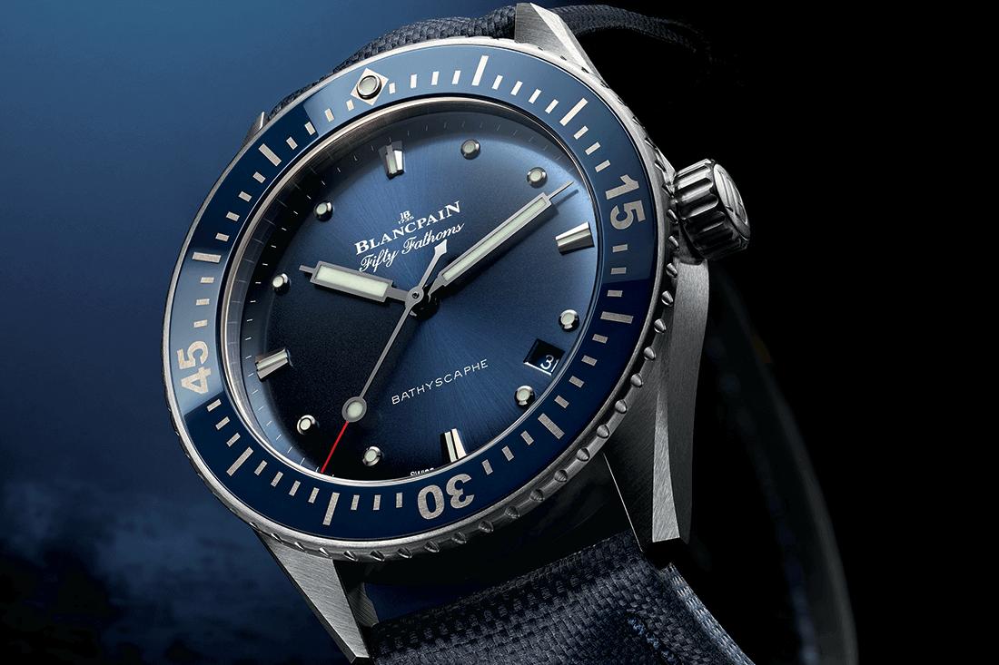 Blancpain 38 mm Fifty Fathoms Bathyscaphe Watch - Ape to Gentleman