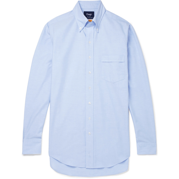 Drake's-Oxford-shirt-blue