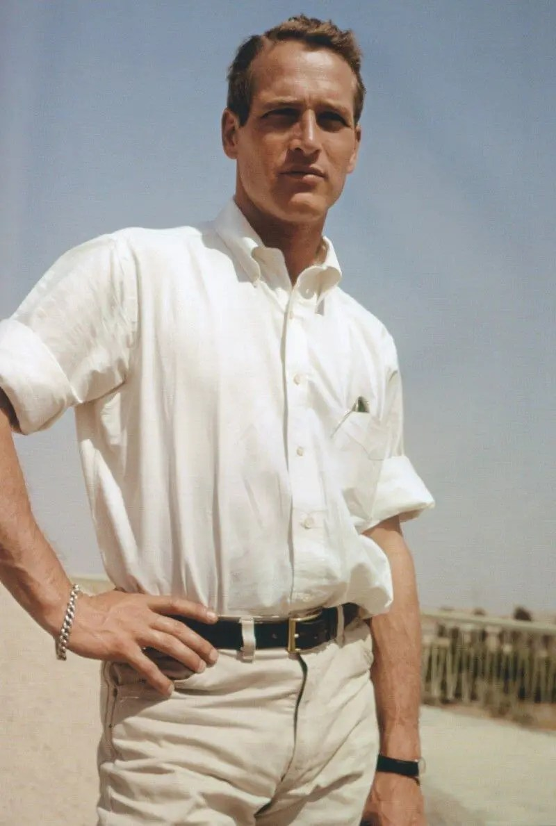 Oxford Cloth Button-Down Shirt - Paul Newman