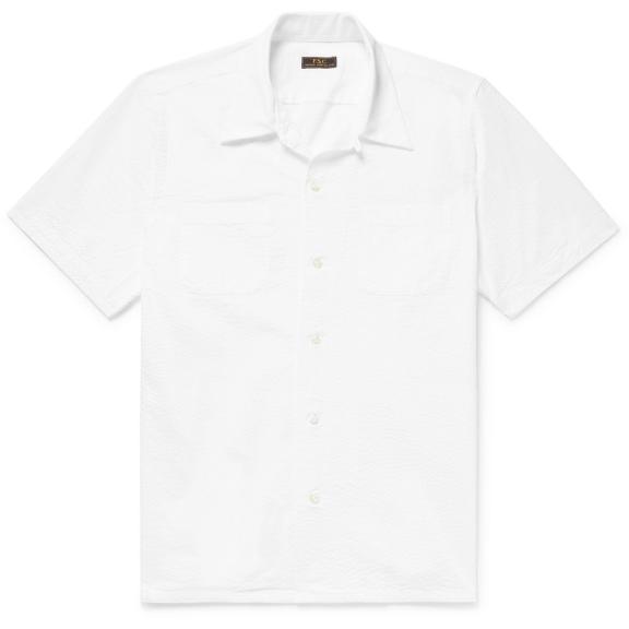 FREEMANS-SPORTING-CLUB-Camp-Collar-Cotton-Seersucker-Shirt