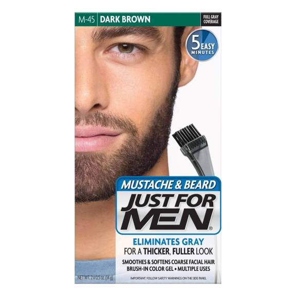 Just For Men Moustache and Beard Brush-In Colour Gel dark brown
