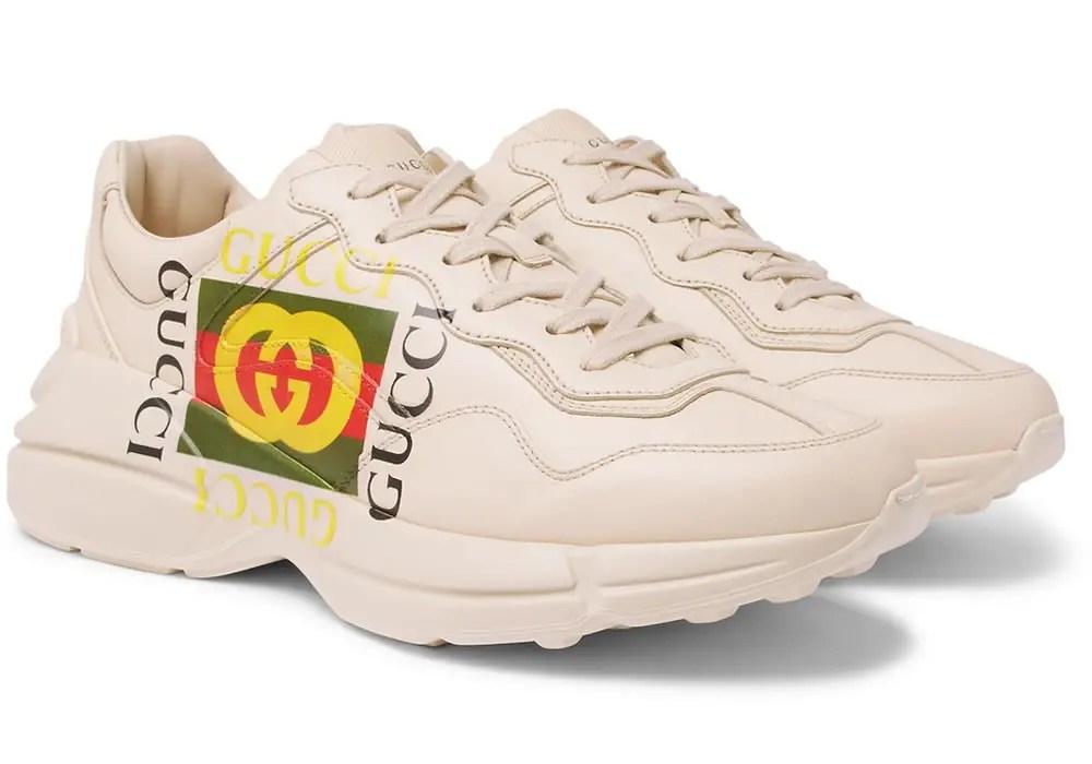 Gucci Rhyton Logo sneaker trend