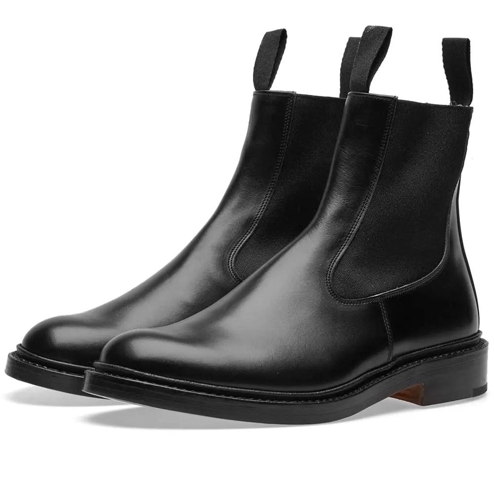 Tricker's Stephen Chelsea Boot in Black Calf