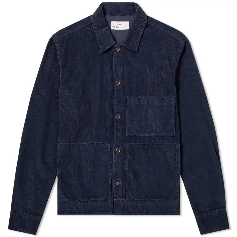 Universal Works Uniform Shirt Jacket in Navy