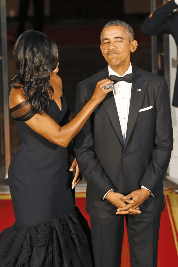 Barack Obama learns from his mistake and gets it right with a black bow tie