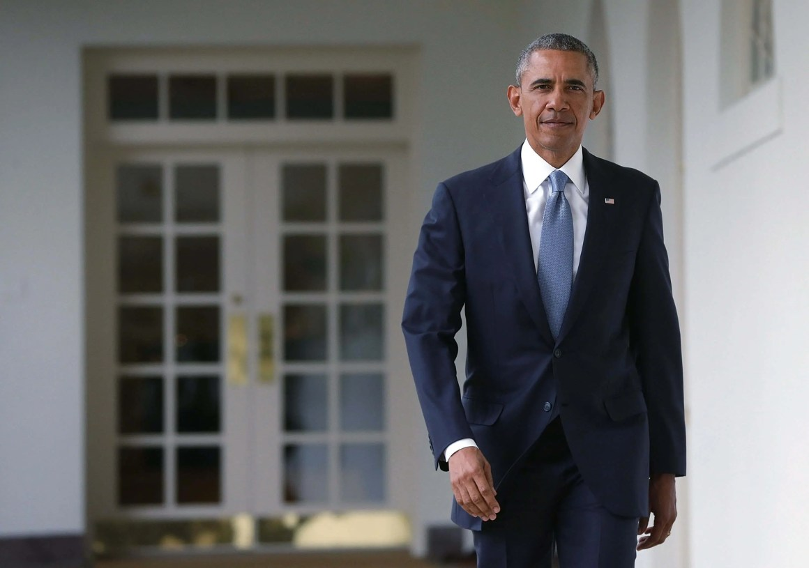Barack Obama in a suit