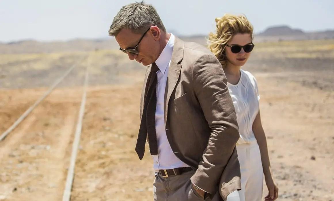 Daniel Craig as James Bond wearing Brown Separates in Spectre