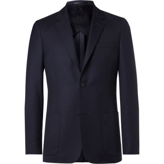 Mr P. Navy Unstructured Worsted Wool Blazer, £375 >