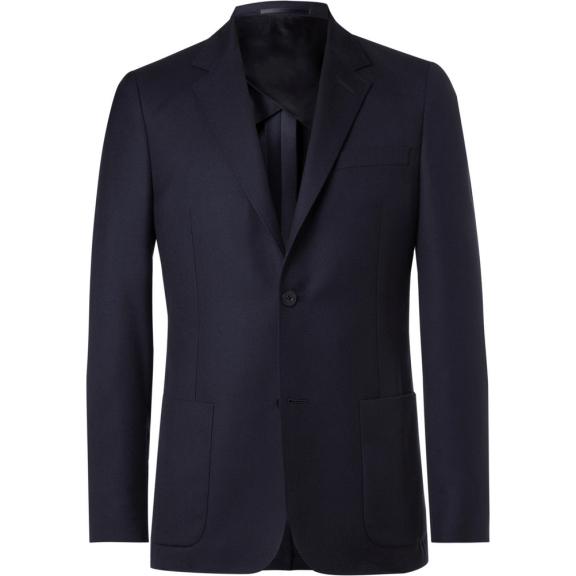 Mr P. Navy Unstructured Worsted Wool Blazer, £375 >
