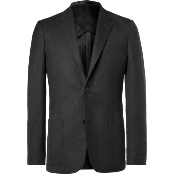 Mr P. Grey Unstructured Worsted Wool Blazer, £375 >
