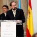 Felipe Sahagún en un momento de su discurso