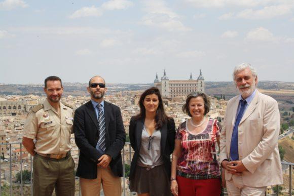 Teniente Coronel Manuel González Hernández, Ignacio Álvarez – Ossorio, Olga Rodríguez, Georgina Higueras y Pierre Conesa