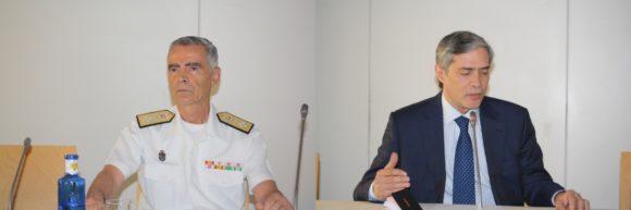 Almirante Fernando García Sánchez y Javier García Vila