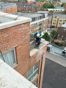 Apex Access Group - temporary fall protection system - pressure washing - pimlico, London