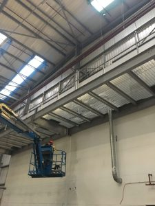Apex Access Group - MEWP Access cherry picker industrial cleaning - Northampton