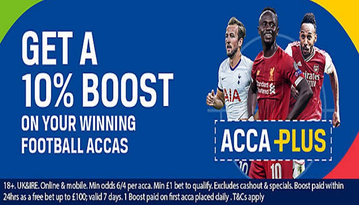Coral Boosting Football Acca Payouts by 10%