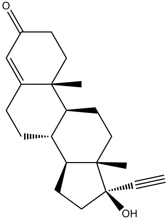 Ethisterone|Progestogen hormone|CAS# 434-03-7