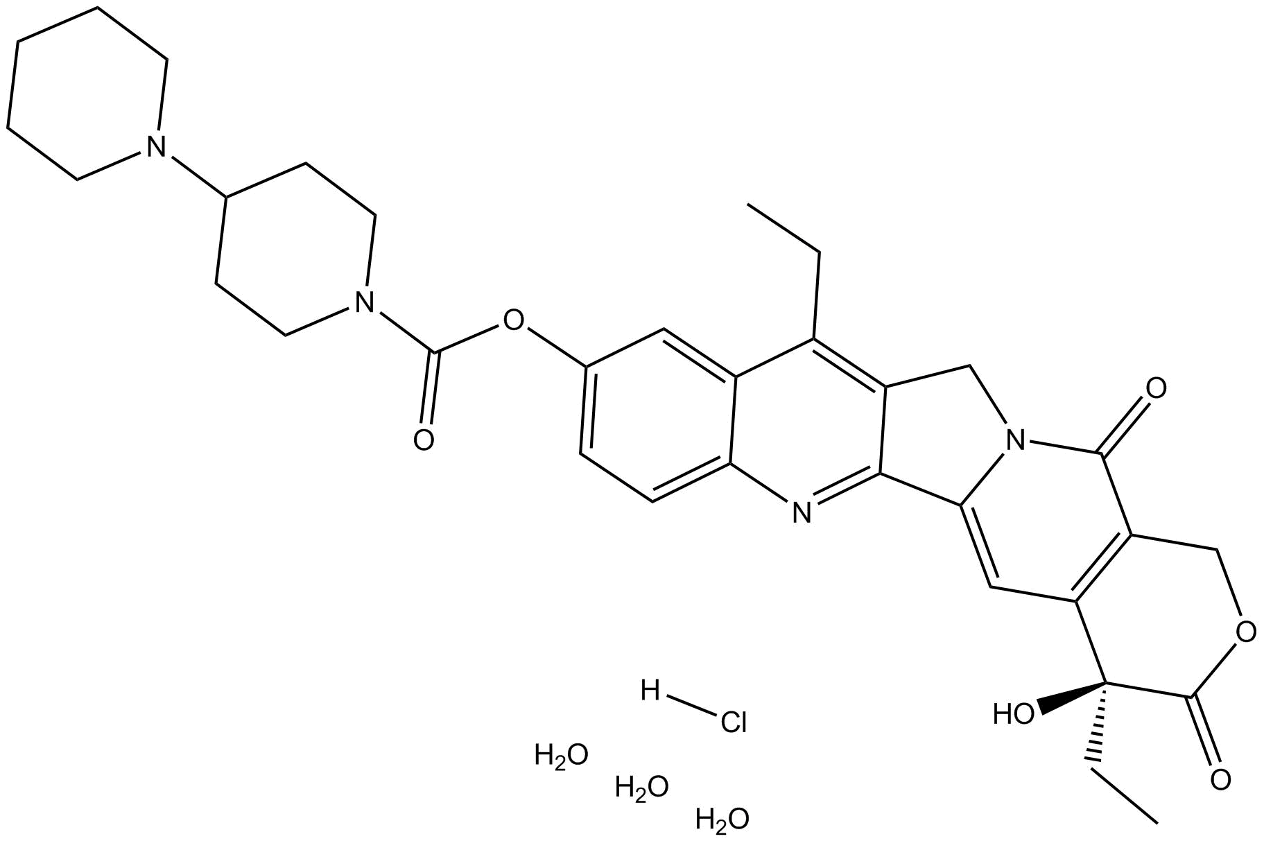 Irinotecan HCl Trihydrate|TOPO 1 inhibitor|CAS# 136572-09-3