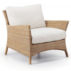Comfortable Wicker Chairs Beach Table And Seija Natural Armchair White Cushions Barons Accent