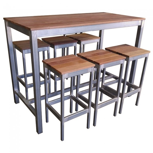 Beer Garden Outdoor Bar Table and Stools  Apex