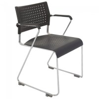 Stackable Sled Base Chair with Arms   Apex