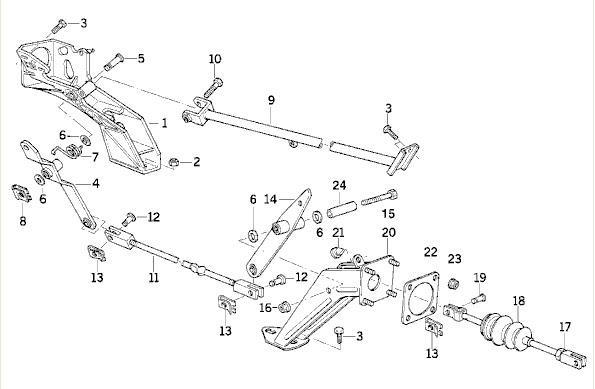E34 WTB: e34 V8 or e32 V8 brake booster and linkage
