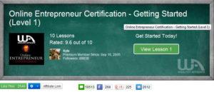 Wealthy-Affiliate -Online-Entrepreneur-Certification-Course