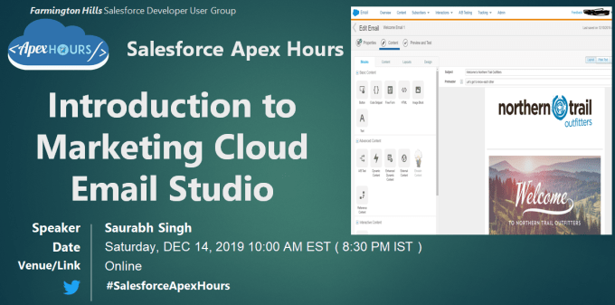 Introduction to Marketing Cloud Email Studio