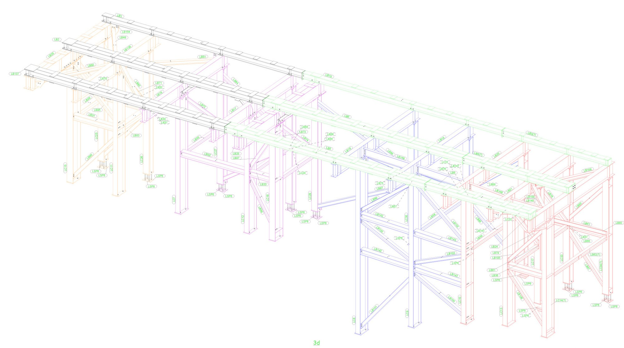 hight resolution of  of site welfare structure and 4no tower crane grillages the grillages comprise of fabricated plate girder sections and complex bolted connections