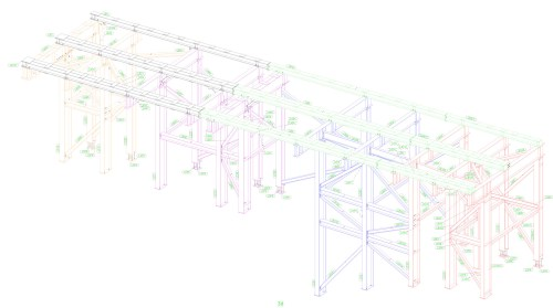 small resolution of  of site welfare structure and 4no tower crane grillages the grillages comprise of fabricated plate girder sections and complex bolted connections