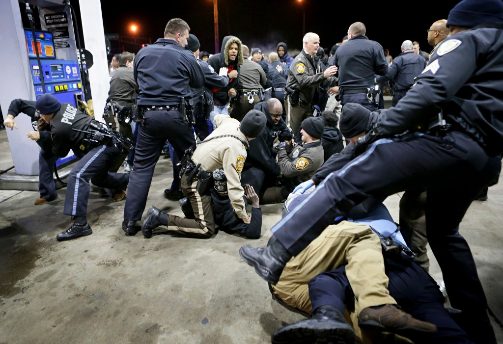 St. Louis police officer fatally shoots armed man at a Gas Station near Ferguson, Missouri