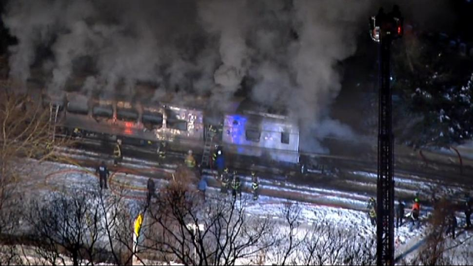 7 Die When Packed Metro-North Train Hits Car