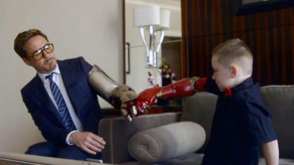 robert downey bionic arm alex
