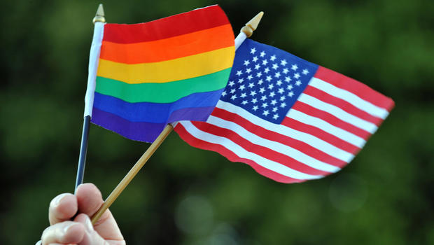 us and lgbt flags