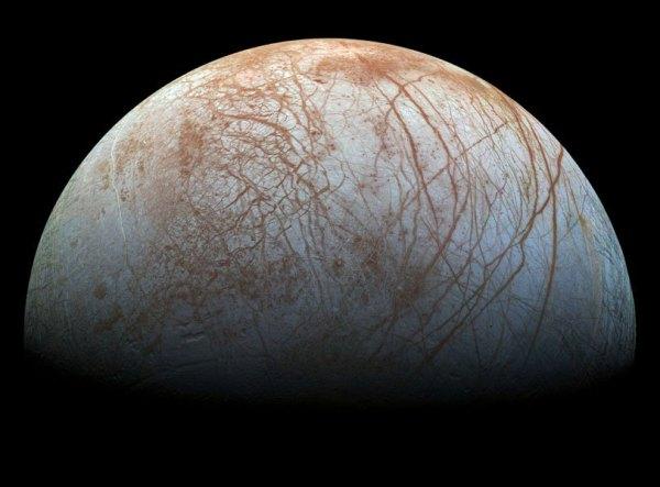 Jupiter's Moon covered in sea salt