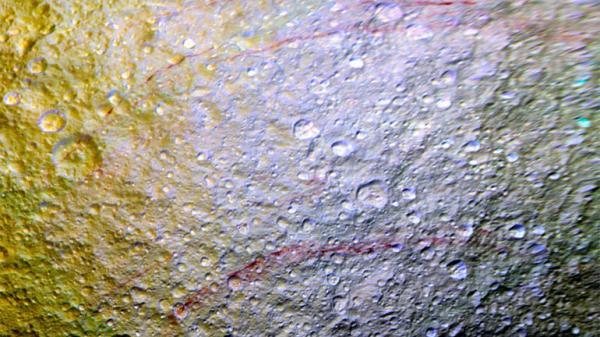 """""""red streaks on tethys"""""""