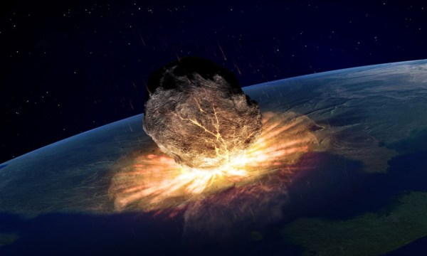 """asteroid hitting the Earth"""
