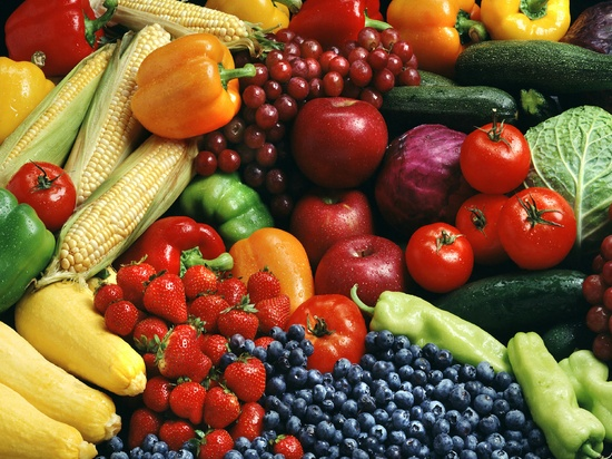 Fruits And Vegetables In The Trash
