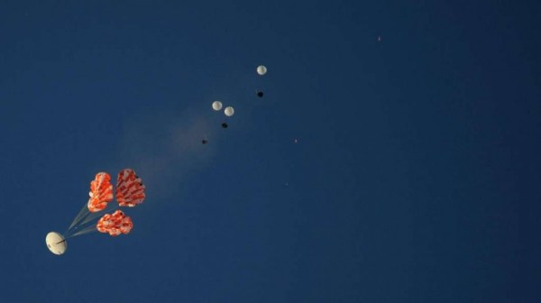 """""""orion parachutes tested in arizona"""""""