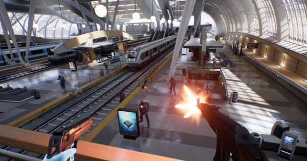 """bullet train videogame reaching for virtual reality"""