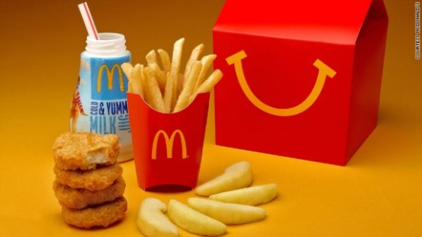 """fat, salt and sugar of happy meals to be reduced"""