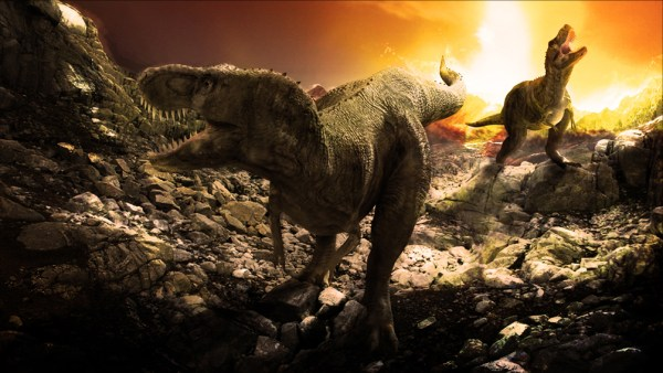 """""""volcanic eruptions and an asteroid impact wiped out the dinosaurs"""""""